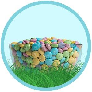 Use the spring colors of M&M'S Speckled Eggs for Easter decorations.