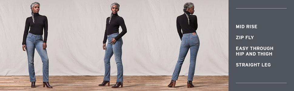 840d0044ba0 Levi's Women's 505 Straight Jeans at Amazon Women's Jeans store