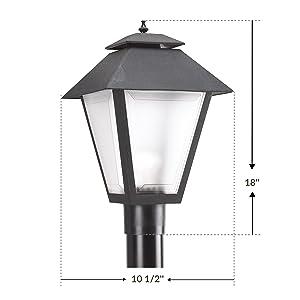 Sea Gull Lighting 82065 12 Polycarbonate One Light Outdoor Post Lantern Outside Fixture Black Finish Amazon Com