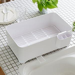 ケユカ サラサ おしゃれ シンプル 無印 水切り かご バスケット シンク キッチン 流し 洗う 片付け 清潔 コンパクト ミニマム デザイン 使いやすい