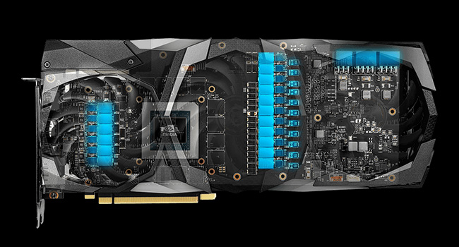MSI RTX 2080 Ti Turing GPU PCB