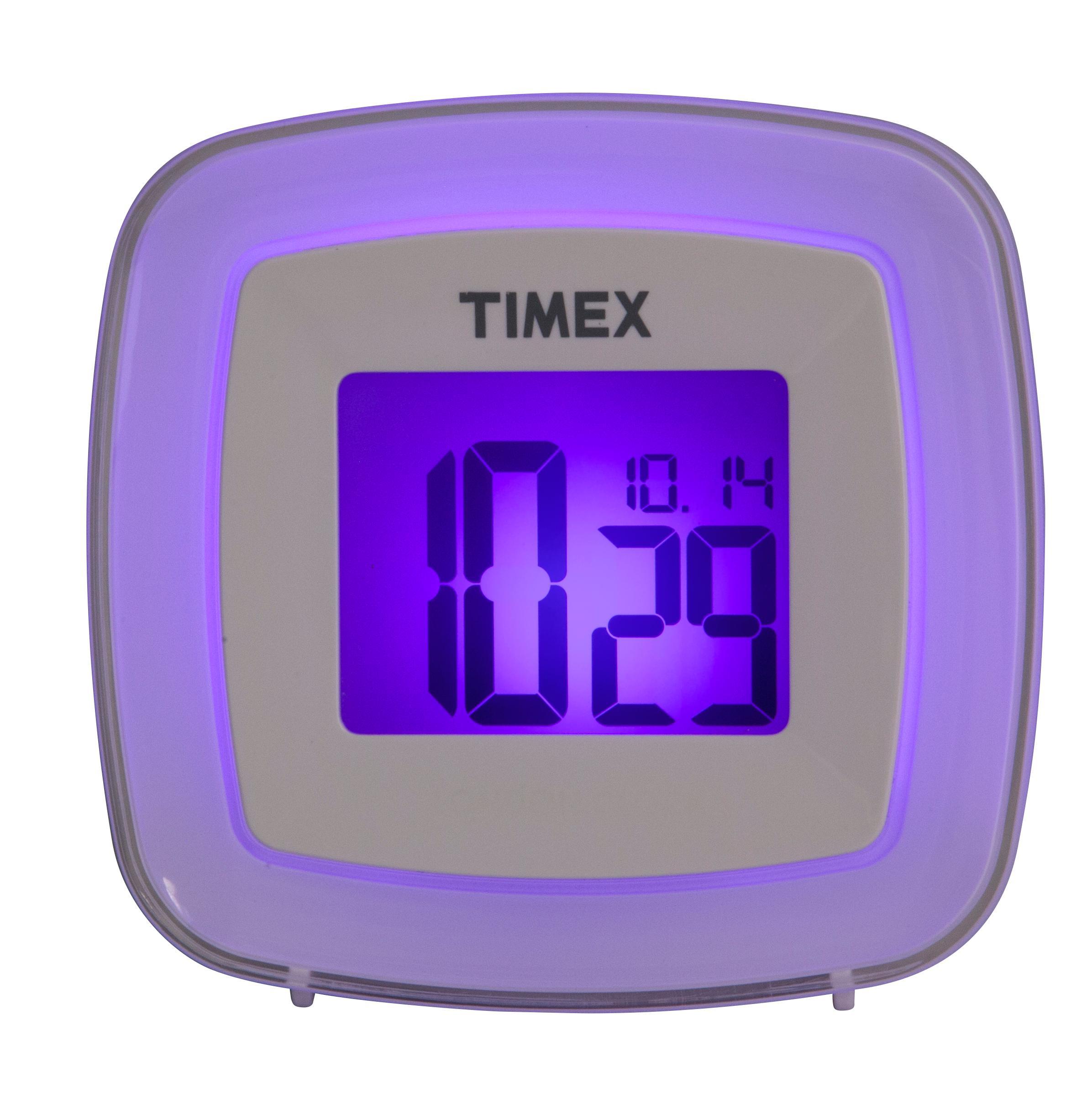 amazon com timex t104w color changing dual alarm clock electronics rh amazon com Loud Annoying Alarm Clocks timex t104w color changing dual alarm clock manual