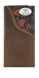 Mossy Oak nylon and leather roper wallet