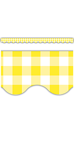 yellow gingham Scalloped Border Trim