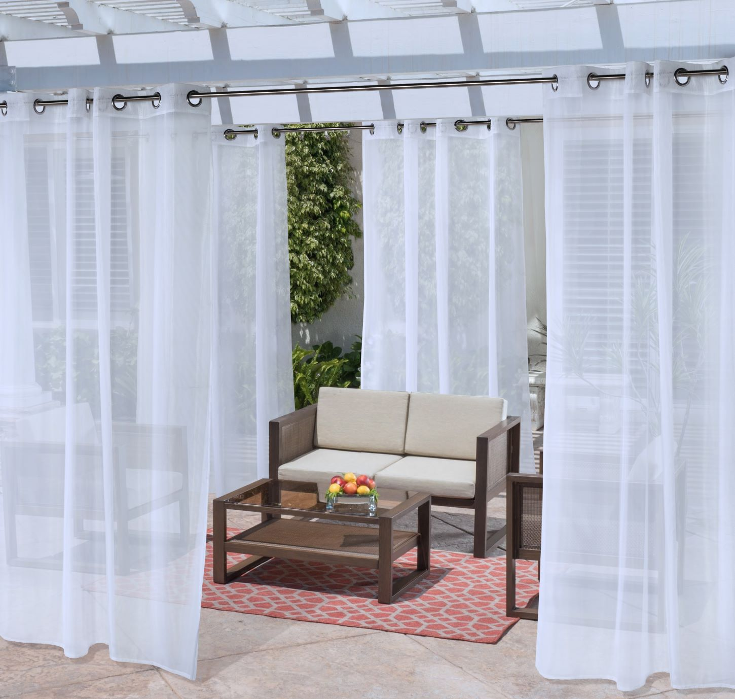 Grey 100 X 84 Outdoor D/écor 71709-188-84-429 Seascapes solid color indoor or outdoor curtains