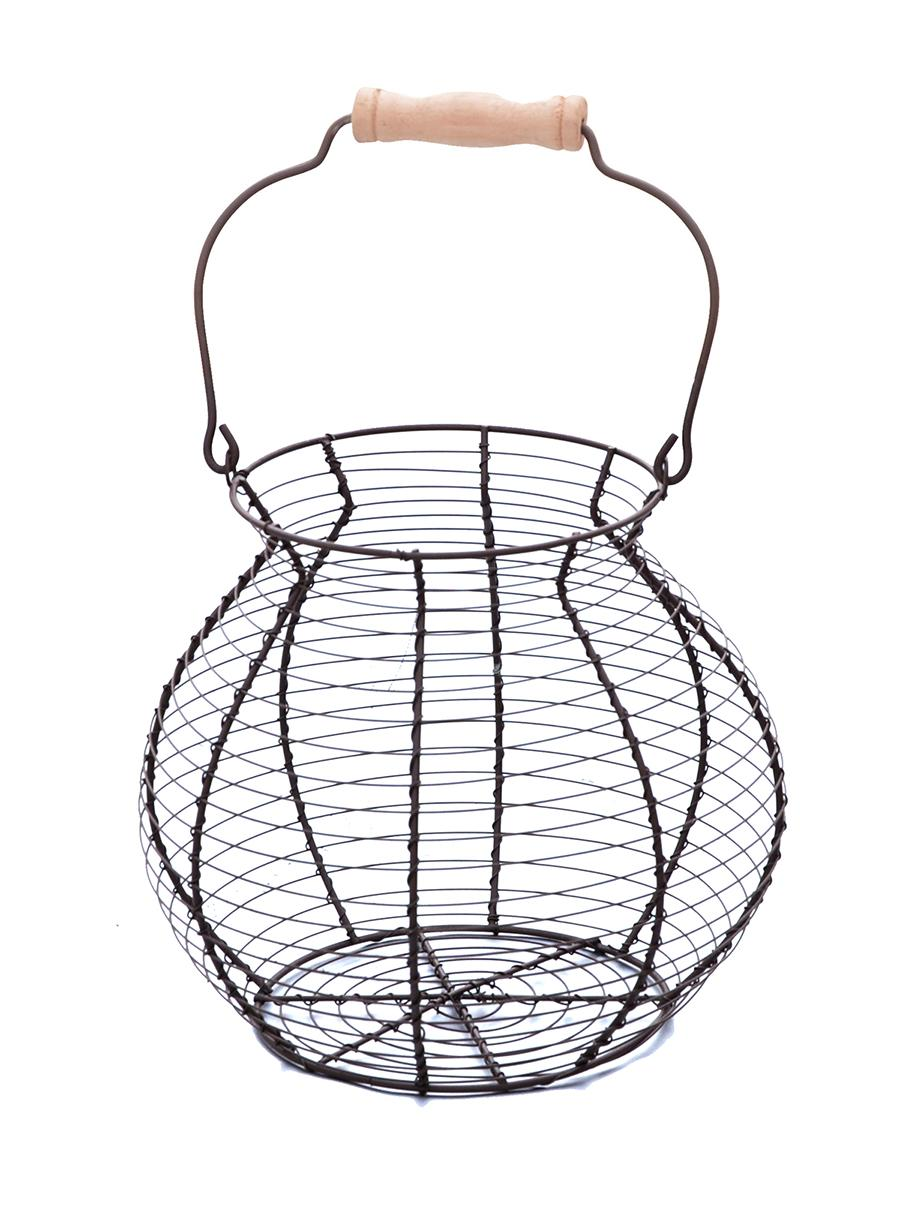 trademark innovations wire egg basket  vintage style