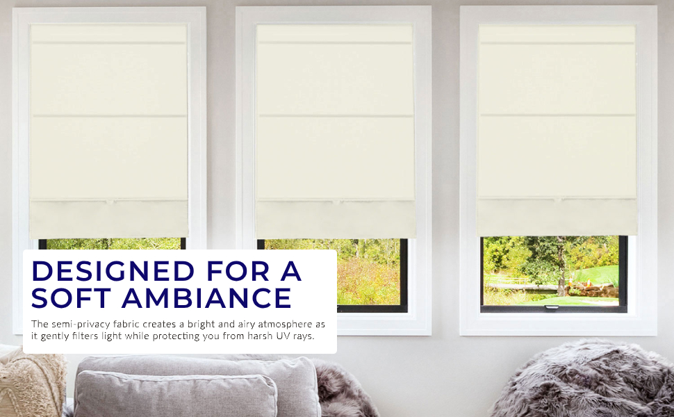 DESIGNED FOR A SOFT AMBIANCE: Select one of our essential colors for a light filtering finish.