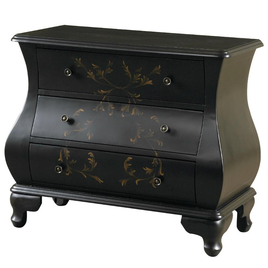 Hand Painted Bombay Chest Black