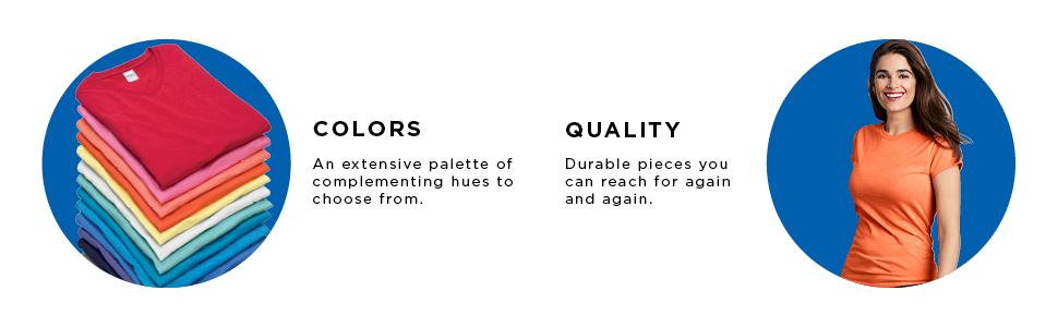Gildan, activewear, colors, quality