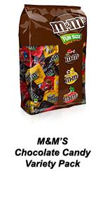 Use a variety pack of M&M'S to share with friends.