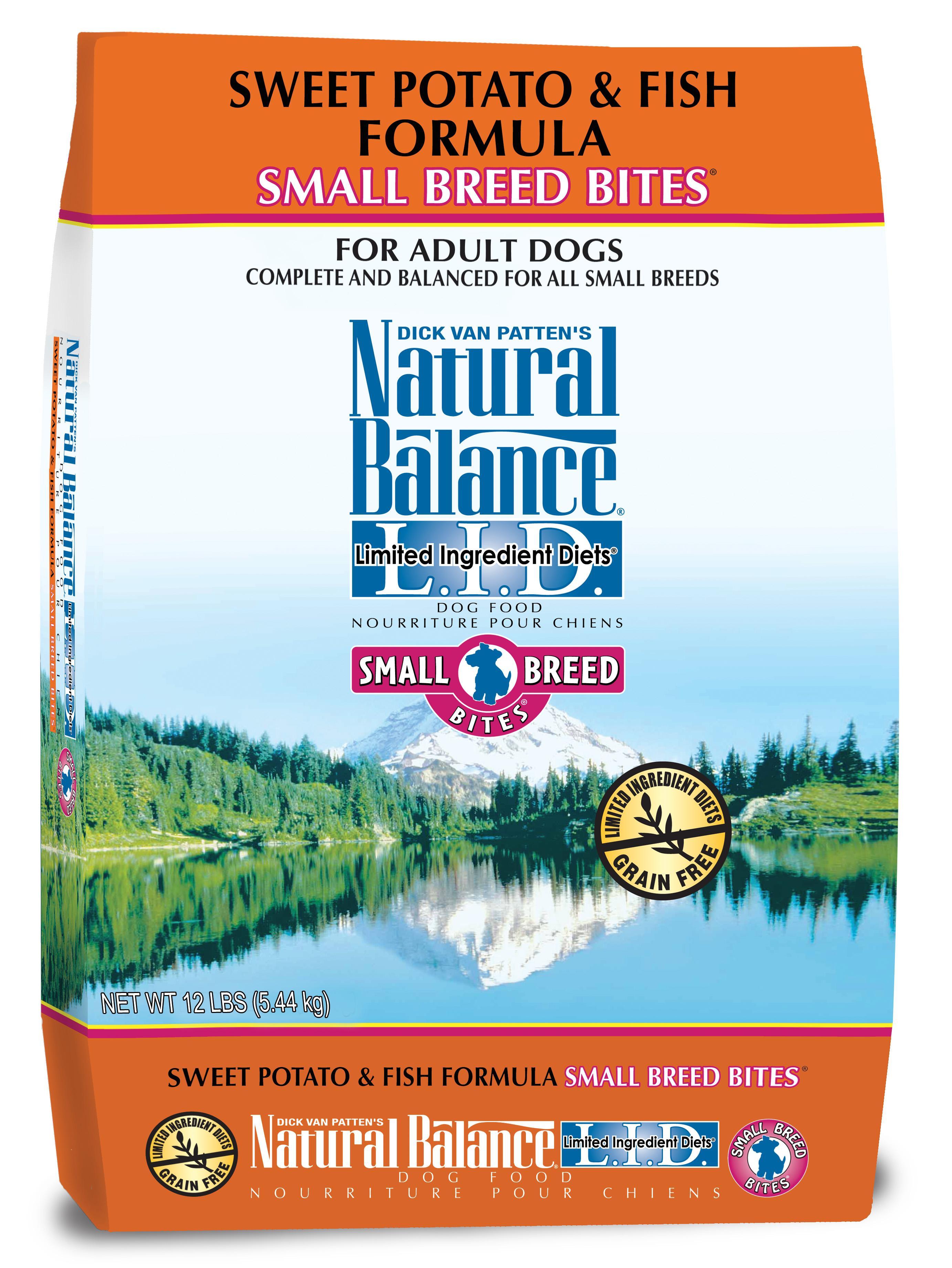 Natural balance small breed bites l i d for Natural balance dog food sweet potato and fish