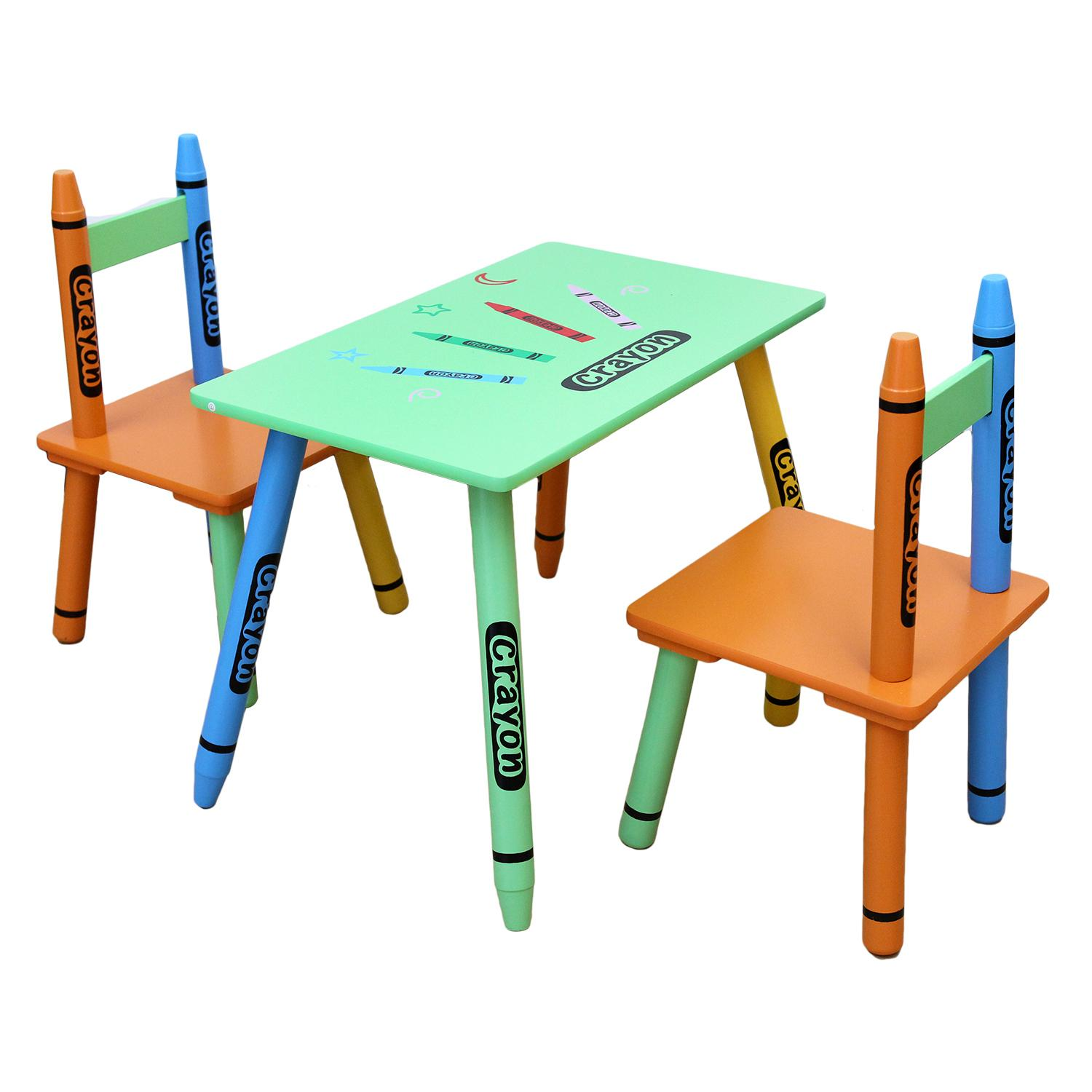 kiddi style childrens wooden table and chair set green. Black Bedroom Furniture Sets. Home Design Ideas