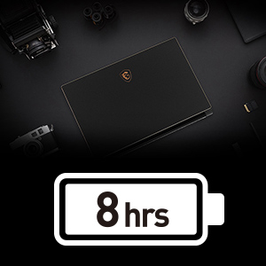 8 Hour Battery Life