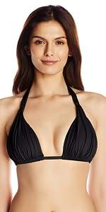 bathing suits for women bikini top designer adjustable straps ruched shirred adjustable built in cup