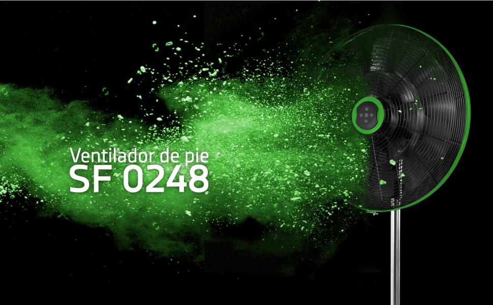 ventilador de pie, ventilador orbegozo, ventilador potente, ventilador silencioso, mando a distancia