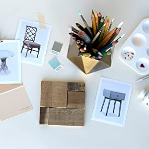 palette, paint, end tables