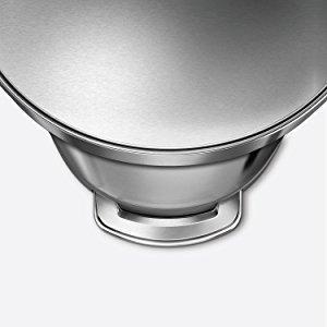 Amazon.com: Simplehuman - Papelera semiredonda de acero ...