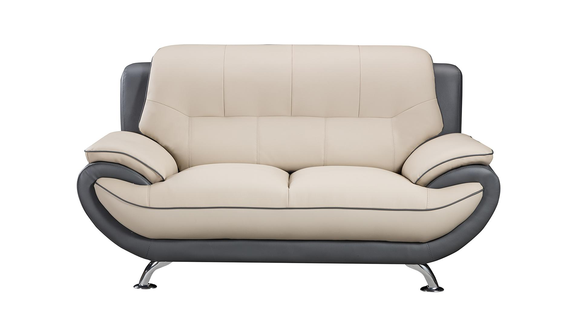 Amazon.com: American Eagle Furniture Bonded Leather Living Room Sofa ...