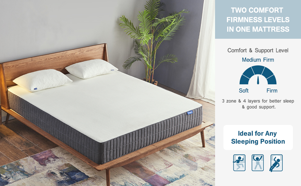 queen size mattress, gel memory foam mattress, queen mattress 10 inches