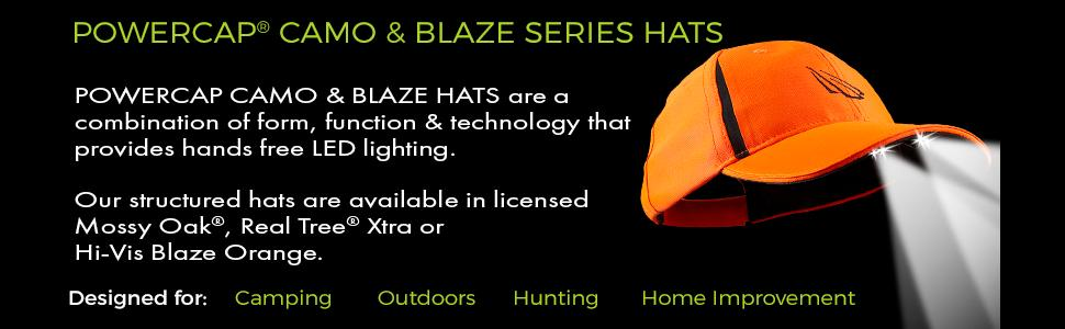 lighted ball cap, hunting hat, camo hunting hat, hat with lights, real tree xtra hat,