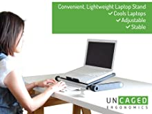 adjustable height angle ergonomic aluminum laptop cooling stand riser holder