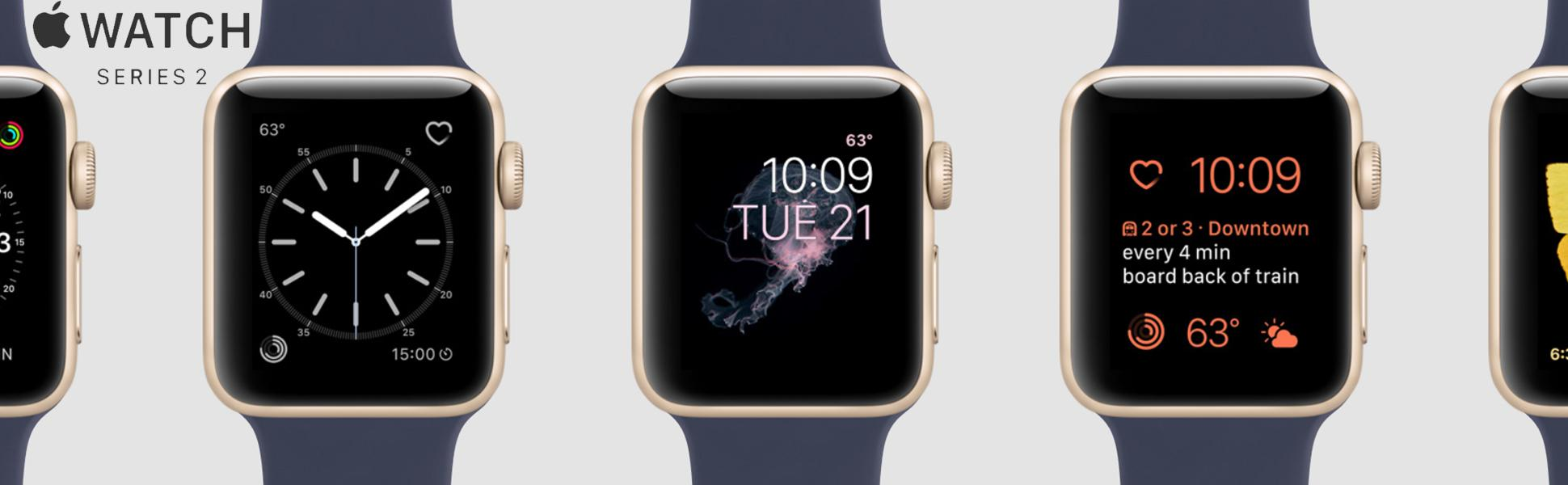 Apple Fba Mnpl2ll A Watch Series 2 42mm Rose Gold 1 38mm Aluminium With Midnight Blue Sport Band Ii