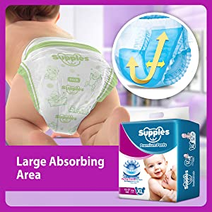 Supples Baby Pants Diapers, X-Large