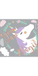 peel and stick wall decals, unicorn peel and stick wall decals
