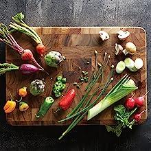 prep station; ingrained distinction; butcher block; chef board; chop block