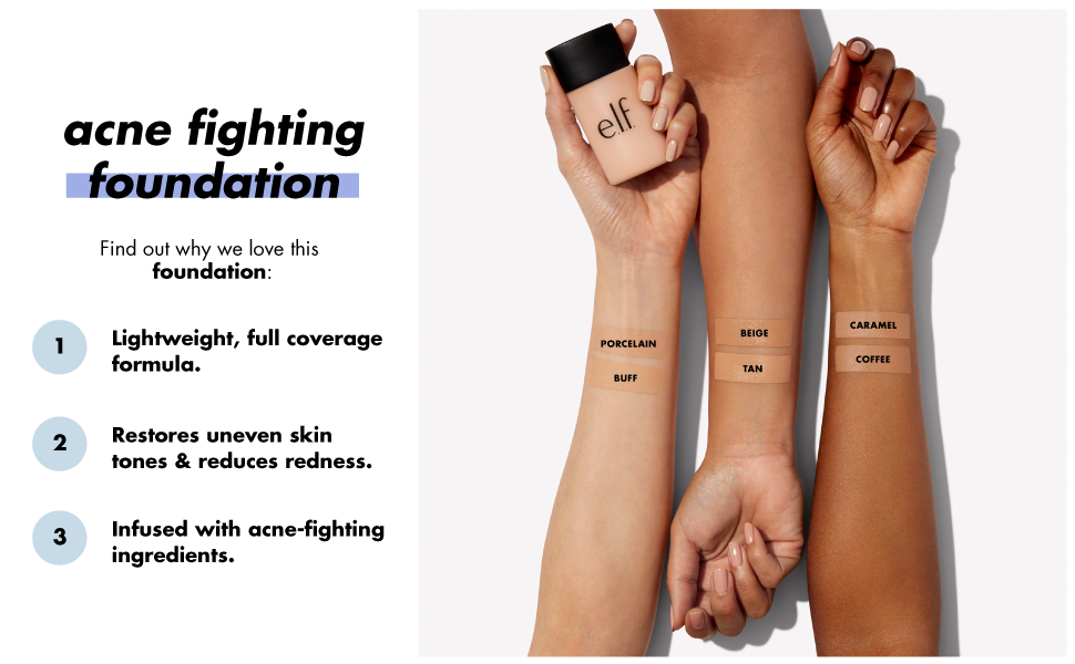 elf acne fighting foundation sverige