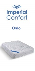 Imperial Confort Oslo - Colchón viscosoft - 90 x 190 x 21 - Color blanco: Amazon.es: Hogar