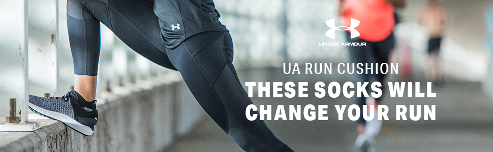 under armour run cushion socks, run socks, running socks, run sock, running, cushion socks, run