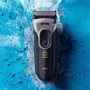 Braun Series 3 ProSkin 3090cc wiederaufladbarer Elektrorasierer mit Reinigungs- und Ladestation, Prä