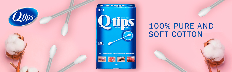 Q-tips Cotton Swabs Original are made with 100% pure cotton and boast a wide variety of uses.