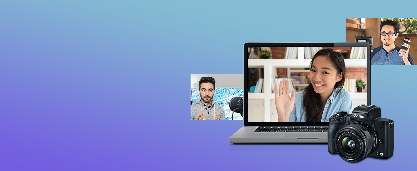 Pair the camera with EOS Webcam Utility software for an easy, high-quality webcam alternative.