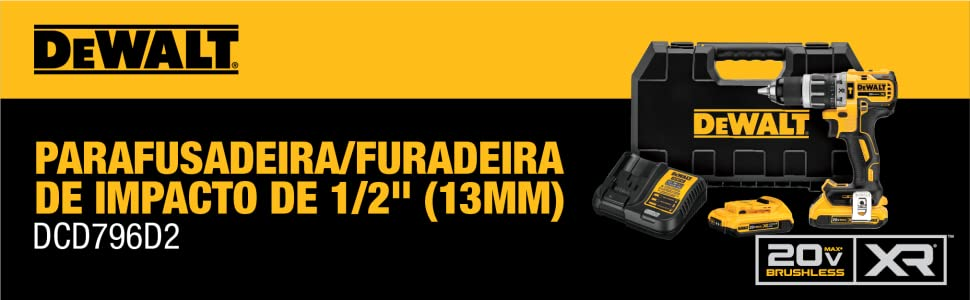 """DCD796D2 - Parafusadeira/Furadeira de Impacto de 1/2"""" (13mm)"""