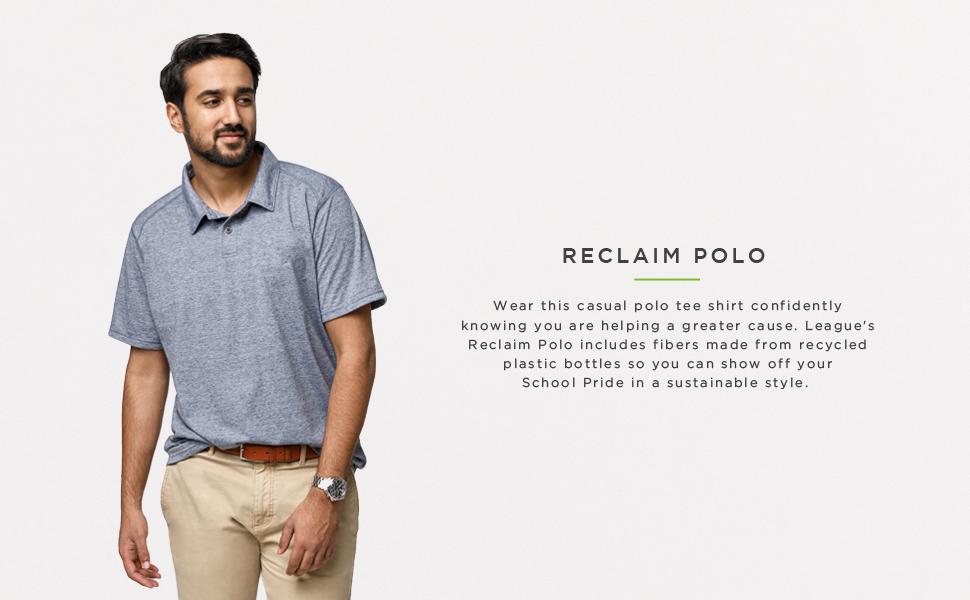 LEAGUE/&CO NCAA Mens Reclaim Polo