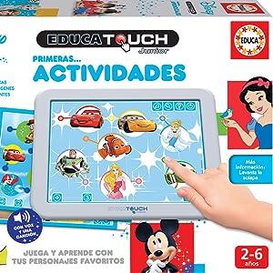 Amazon.es: Educa - Touch Disney, Primeras Actividades, Juega y aprende con personajes Disney (17919)