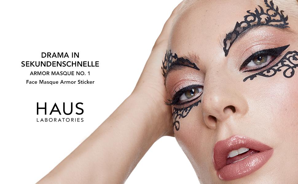 Lady Gaga, huis laboratoria, huis labs, gezichtsstickers, gezichtsdecal, tijdelijke tattoo