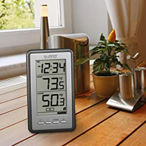 lacrosse, la crosse, ws-9160, thermometer, temperature, time, wireless, digital, weather