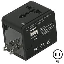 international power adapter wall world universal charger us uk au eu china japan charging usb port