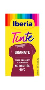 Iberia - Tinte Verde Oscuro para ropa, 40°C: Amazon.es: Belleza