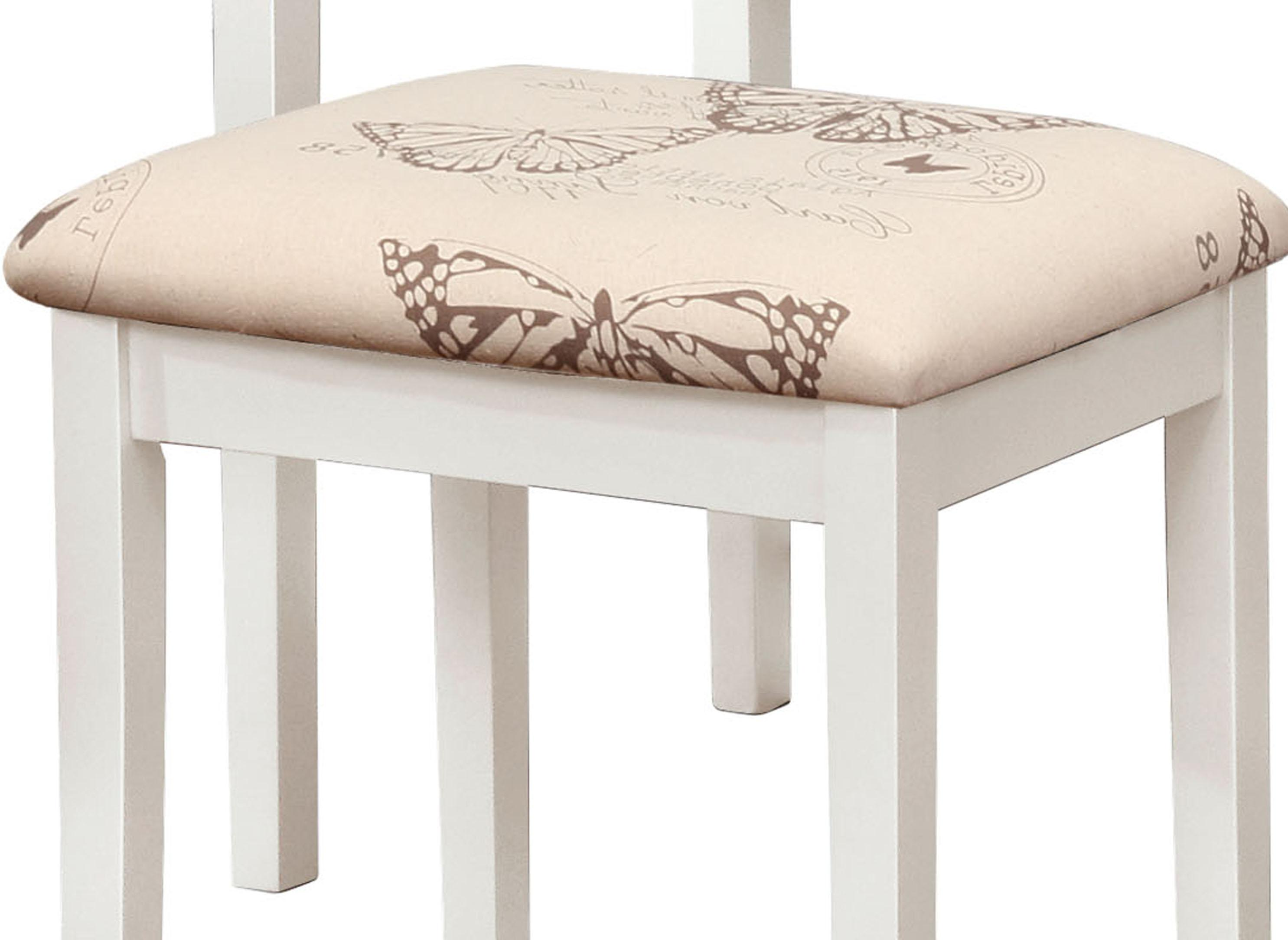 Amazon.com: Linon Home Decor Vanity Set Butterfly Bench