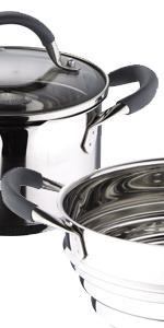 Sartenes · Plancha y grill · Cazo y cacerola baja · Ollas y vaporera · Utensilios · Cuchillos