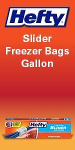 Hefty Slider Freezer Storage Bags Gallon