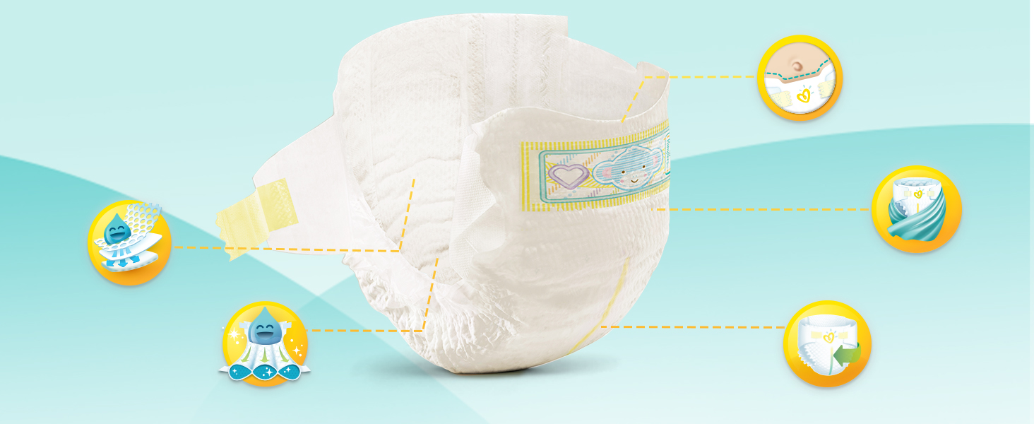 Pampers Premium Protection New Baby Nappies