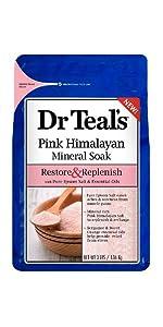 pink, himalayan, soak, salt, bath
