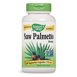 amazon com nature s way saw palmetto berries 585 mg saw palmetto
