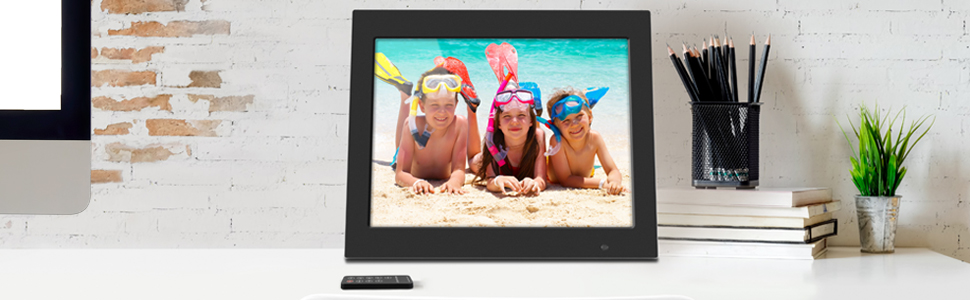 Digital Photo Frame 15 Inch Digital Photo Frame 1280800 Pixels High Resolution LED Screen 1080P HD Video Playback Auto On//Off Timer Remote Control Included Gift For Familiar And Friends Suit For Home