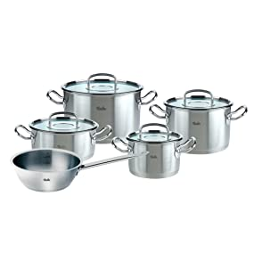 fissler kochgeschirrset original profi collection 5 teilig mit glasdeckeln inklusive sauteuse. Black Bedroom Furniture Sets. Home Design Ideas